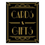 Art Deco Cards and gifts table print