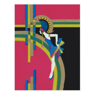 Art Deco Flapper Postcard