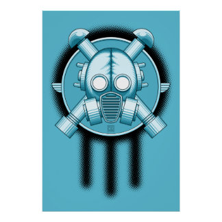 Art Deco Gasmask Trinity Posters