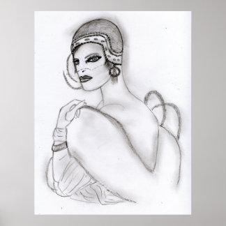 Art Deco Girl 2 Posters
