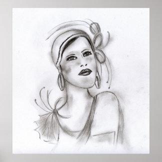 Art Deco Girl Poster