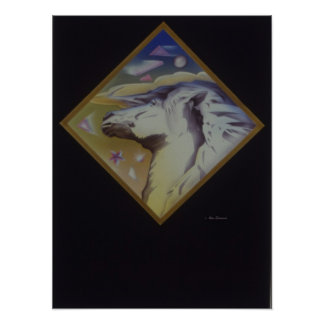 Art Deco Horse Poster