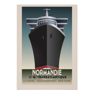 Art Deco Inspired Cruise Poster