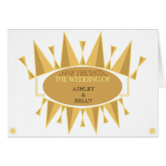 Art Deco inspired Save the Date Card