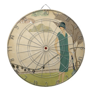 Art Deco Lady Dartboard