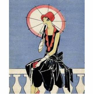 Art Deco Lady Photo Cutout