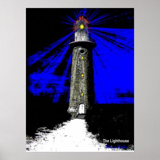 Art Deco Lighthouse Print