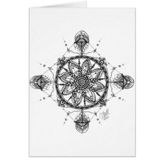 Art Deco Mandala Card