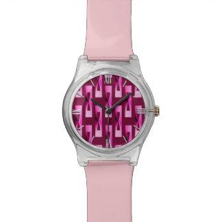 Art Deco Metallic Geometric - Orchid and Purple Watch
