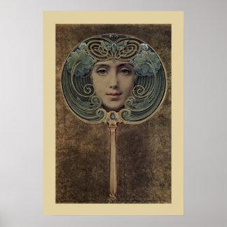 Art Deco Mirror Poster