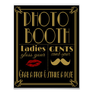 Art Deco PHOTO BOOTH Poster