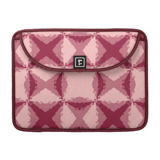 Art Deco Pink Floral Swirl Retro Abstract Sleeve For MacBooks