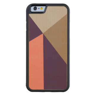 Art Deco Purple & Peach Maple iPhone 6 Bumper