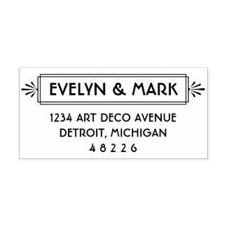 Art Deco   Reply Envelope Address Self-inking Stamp