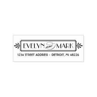 Art Deco   Return Address Rubber Stamp