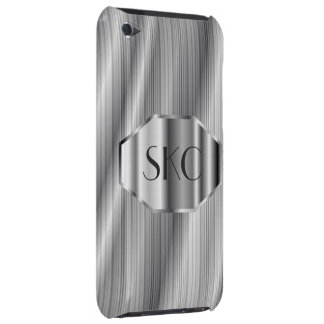Art Deco Silver Monogrammed Case-Mate for iPod iPod Touch Cases