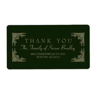 Art Deco Style 2 Family Thank You Label