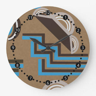 Art Deco style Abstract design Large Clock