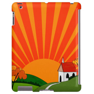 Art Deco Style Landscape with Church