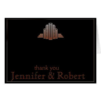 Art Deco Tower Thank You Card