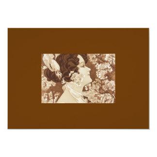 "Art Deco Victorian Lady 5"" X 7"" Invitation Card"