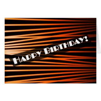 Art Deco Vintage Happy Birthday Card