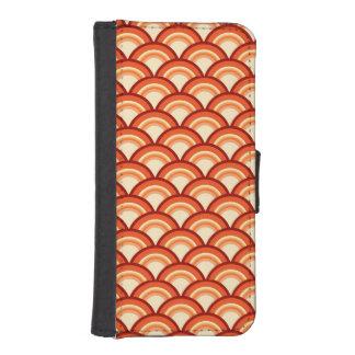 Art Deco wave pattern - tangerine orange