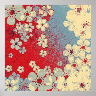 Art floral vintage pattern and modern design poster