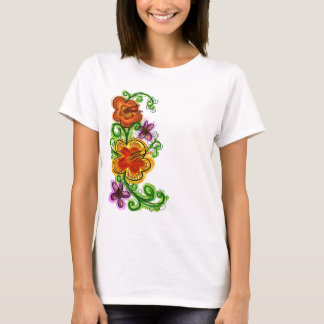 Art flowers ladies shirt