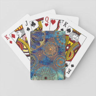 Art grunge pattern playing cards