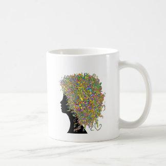 Art in my hair coffee mug