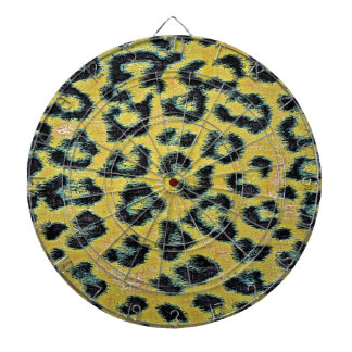 Art leopard fur 4 dartboard