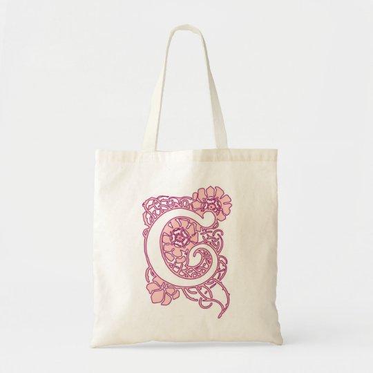 Art Nouveau Floral Monogram C Tote Bag