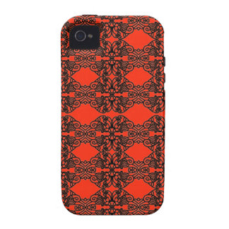 Art nouveau in black lace Case-Mate iPhone 4 covers