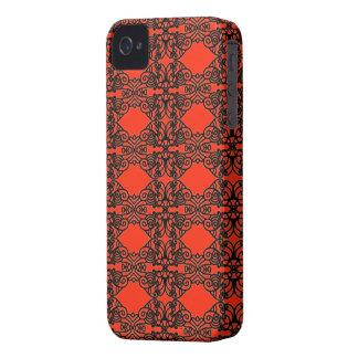 Art nouveau in black lace Case-Mate iPhone 4 case