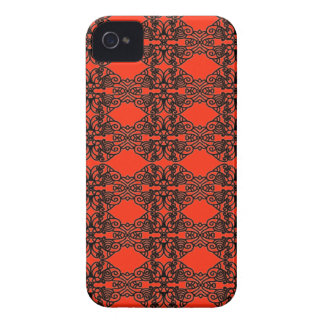 Art nouveau in black lace iPhone 4 cover