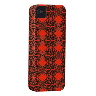 Art nouveau in black lace iPhone 4 cover
