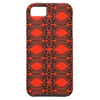 Art nouveau in black lace tough iPhone 5 case