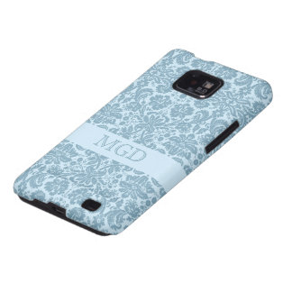 Art nouveau in turquoise with custom monogram galaxy SII cases