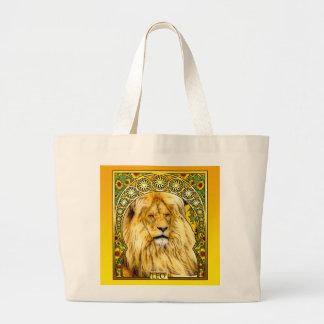 Art Nouveau Leo Large Tote Bag
