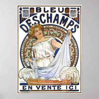 Art Nouveau Poster Bleu Deschamps by Mucha