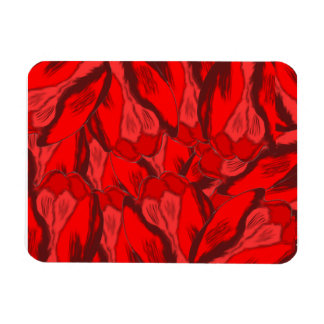 Art Nouveau profusion of red tulips Magnet