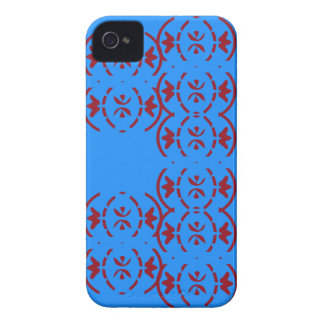 Art nouveau repeating red pattern Case-Mate iPhone 4 case