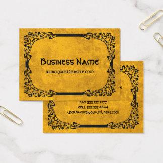 Art Nouveau Retro Elegant Black Decorative Border Business Card