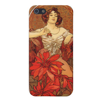 "Art Nouveau ~ ""Ruby - The Precious Stones"" iPhone 5/5S Cover"
