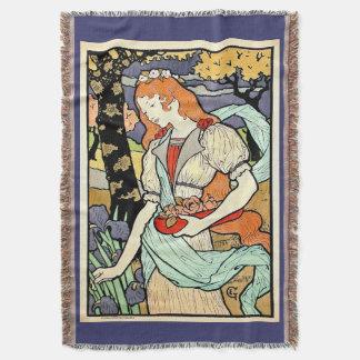 Art Nouveau Throw Blanket