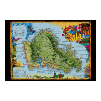 Art of the Hawaiian Islands Poster  - Oahu
