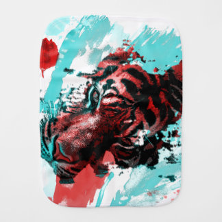 Art of Tiger Style Baby Burp Cloth