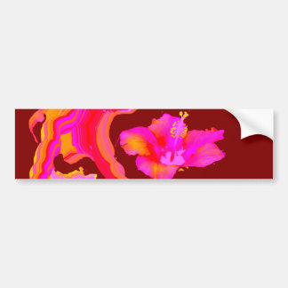 Art Play Hybiscus 1 The MUSEUM Zazzle Gifts Bumper Sticker