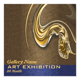 Art show exhibition opening CUSTOMIZE 13 Cm X 13 Cm Square Invitation Card